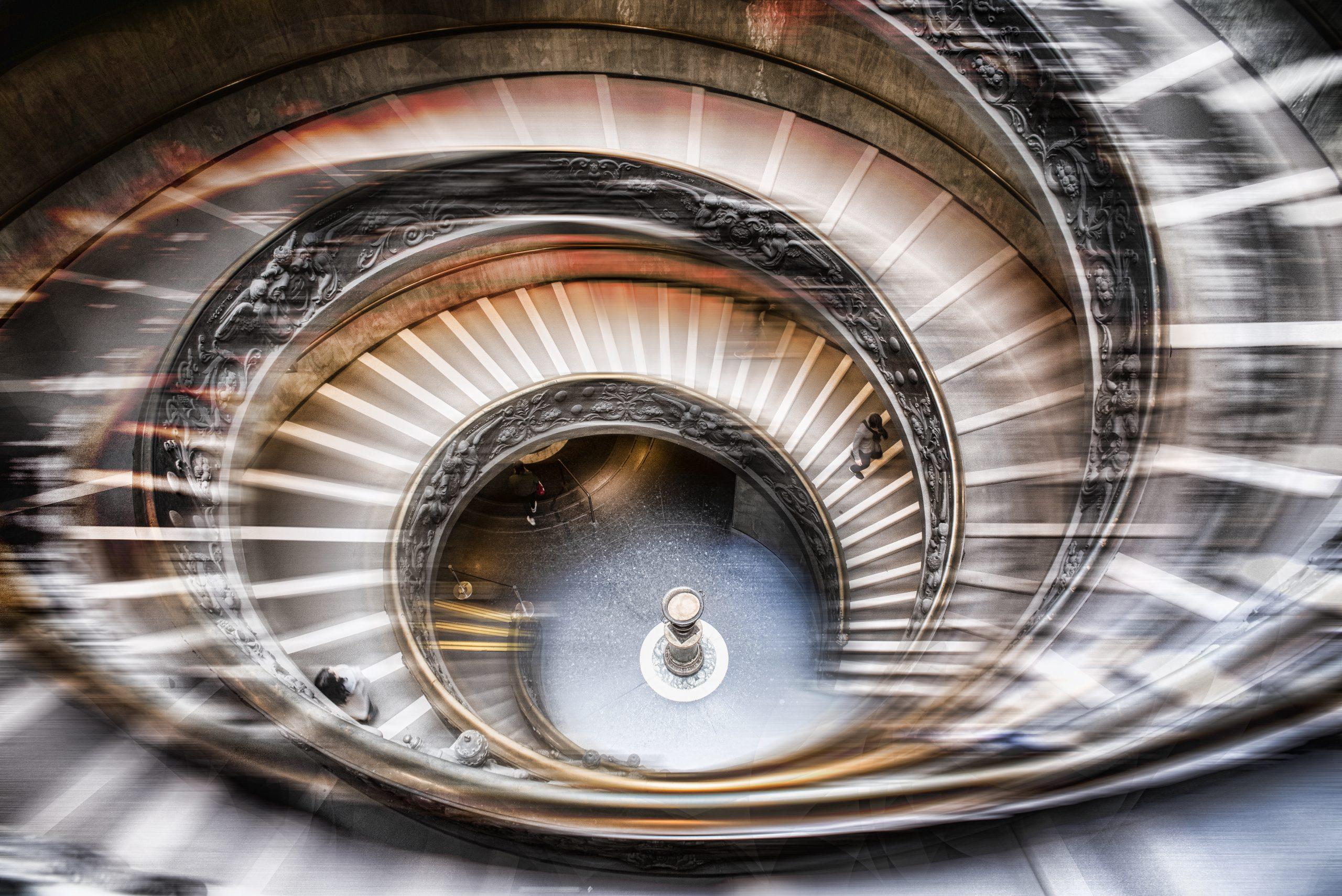 Rome Vatican Escalier de Bramante